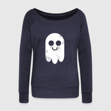 Ghost Pictogram cute Comic gift halloween - Women's Wideneck Sweatshirt