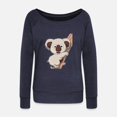 Marsupial koala marsupial animal mammal gift idea - Women's Wideneck Sweatshirt