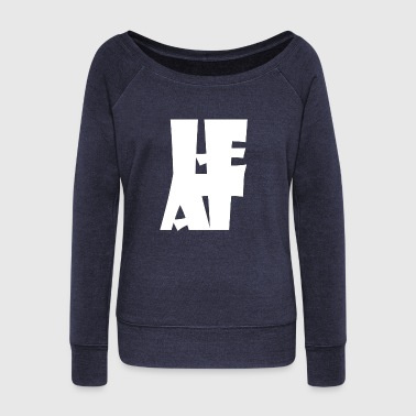 Heath heat - Women's Wideneck Sweatshirt