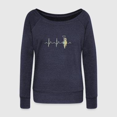 Knuckles Trumphet Heartbeat - Women's Wideneck Sweatshirt