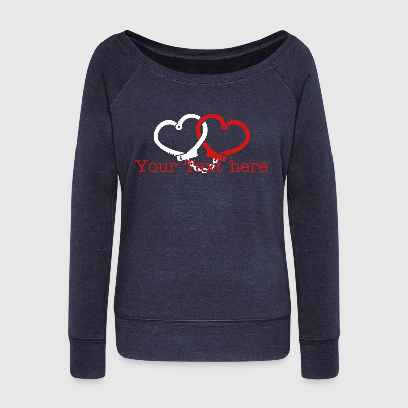 love handcuffs - Women's Wideneck Sweatshirt