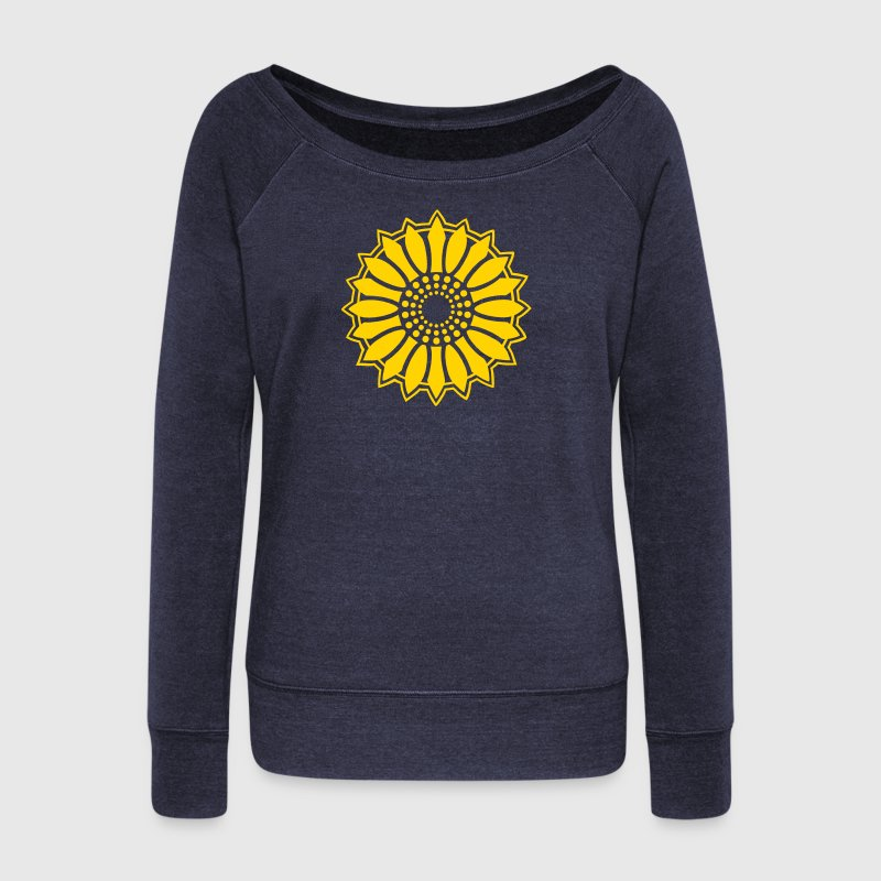 Sunflower - Follow the light!, c, symbol of vitality, joy and confidence, energy icon, symbol of green politics - Women's Wideneck Sweatshirt