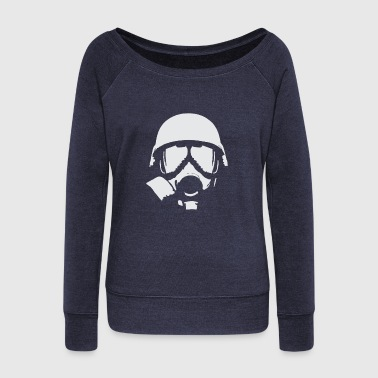 Gas Mask Mask Contra Gas - Women's Wideneck Sweatshirt