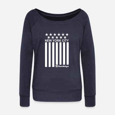 New-york-city New York City Brooklyn - Women's Wideneck Sweatshirt