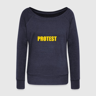 PROTEST - Women's Wideneck Sweatshirt