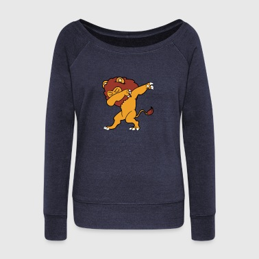 Monster Dabbing Dab Dancing Lion - Women's Wideneck Sweatshirt
