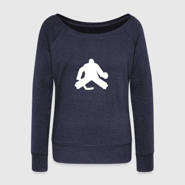 Hockey Goalie Hockey Goalie Silhouette - Women's Wideneck Sweatshirt