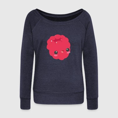 Asian Kawaii Raspberry - Women's Wideneck Sweatshirt