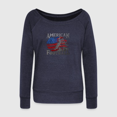 American Football (American Flag) - Football - Women's Wideneck Sweatshirt