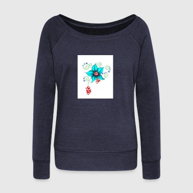Bloom Blooms - Women's Wideneck Sweatshirt
