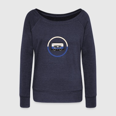tape blue - Women's Wideneck Sweatshirt