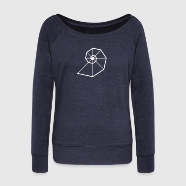Fibonacci Spiral, Golden Ratio, Phi, Evolution - Women's Wideneck Sweatshirt