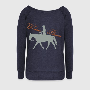 Western Riding - Pleasure - Women's Wideneck Sweatshirt