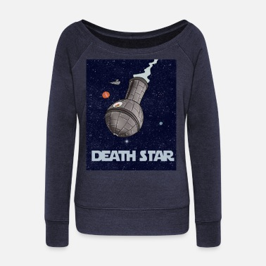 Death Stars Death Star - Women's Wide-Neck Sweatshirt