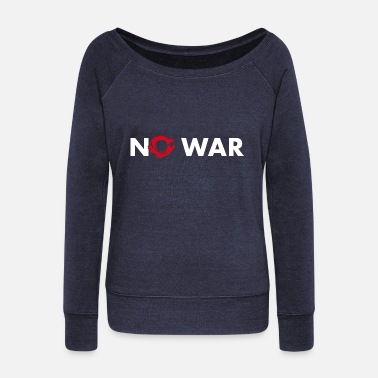 Anti War Anti war - Women's Wideneck Sweatshirt
