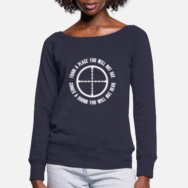Sniper Tab sniper1 - Women's Wide-Neck Sweatshirt