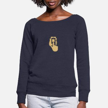 Phone phone - Women's Wide-Neck Sweatshirt
