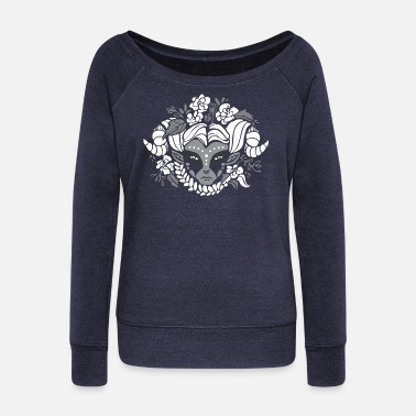 Mystic Mystical faun - Women's Wide-Neck Sweatshirt