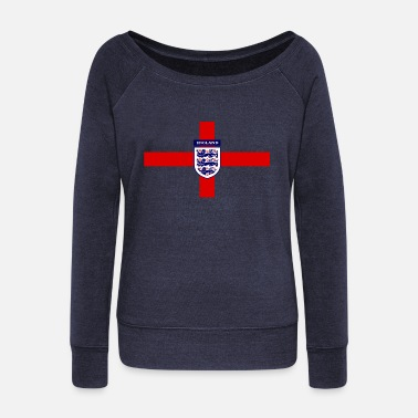 England World 2018 England win the 2018 Russian World Cup - Women's Wide-Neck Sweatshirt