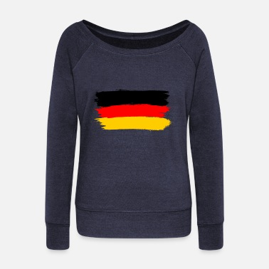 Flag Of Germany flag of germany - Women's Wide-Neck Sweatshirt