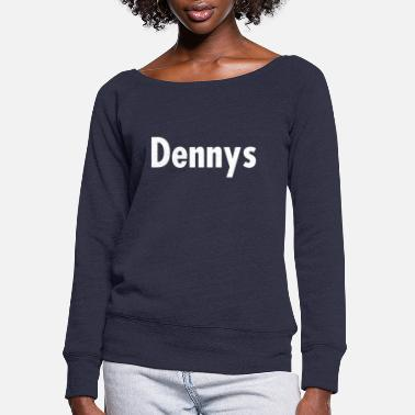 dennys burger logo - Women's Wide-Neck Sweatshirt