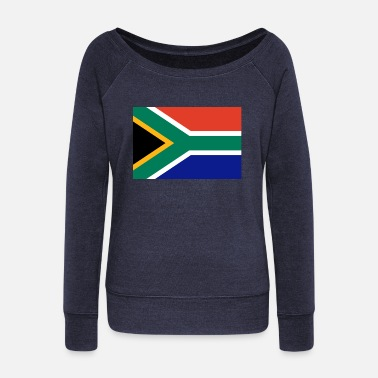 Africa I Love South Africa Flag Birthday Refugees Welcome - Women's Wideneck Sweatshirt