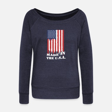 Made In Usa Made in the usa - Women's Wideneck Sweatshirt