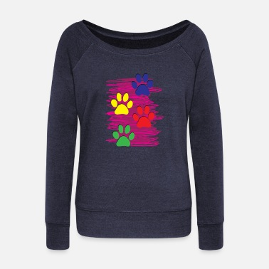 Foot Print dog foot print - Women's Wideneck Sweatshirt