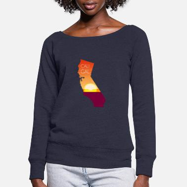 West Coast Kid CALI GIRL - Women's Wide-Neck Sweatshirt