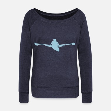 Rowing Rowing - Women's Wide-Neck Sweatshirt