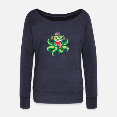 Tentacle Halfwit Tentacles - Women's Wideneck Sweatshirt