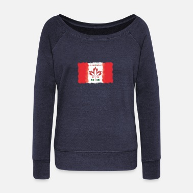 O Canada Flag - Cannabis Legalization 2018 - Women's Wideneck Sweatshirt
