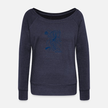 Freediving Ocean freediver - Women's Wideneck Sweatshirt