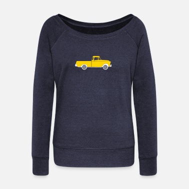 Pick Up Truck Pick-up Truck - Women's Wideneck Sweatshirt