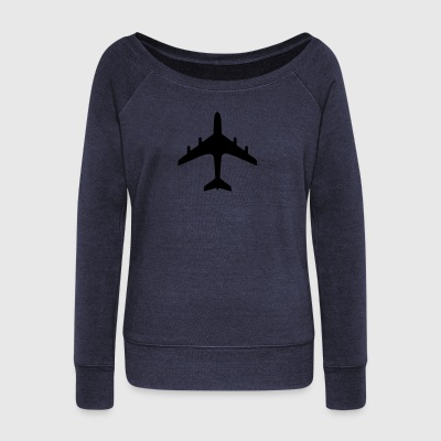 traffic signs - airport - Women's Wideneck Sweatshirt