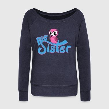 Owl Big Sister - Women's Wideneck Sweatshirt