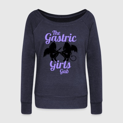 The Gastric Girls Gab Angel and Devil Colour Logo - Women's Wideneck Sweatshirt