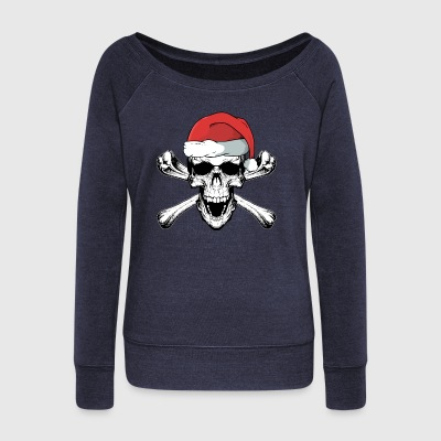 Christmas Skull - Women's Wideneck Sweatshirt