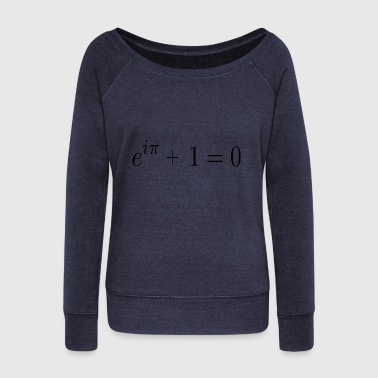 Euler's identity (aka God's Equation) - Women's Wideneck Sweatshirt