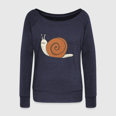 snail - Women's Wideneck Sweatshirt