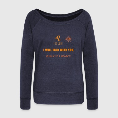 Leo - Women's Wideneck Sweatshirt