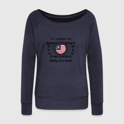 I AM GENIUS BRILLIANT CLEVER MALAYSIA - Women's Wideneck Sweatshirt