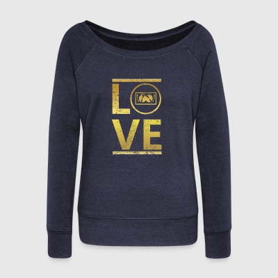 love calling profi king meister TECHNO DJ ELECTRO - Women's Wideneck Sweatshirt
