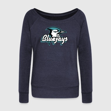 Blue jay Bird - Women's Wideneck Sweatshirt