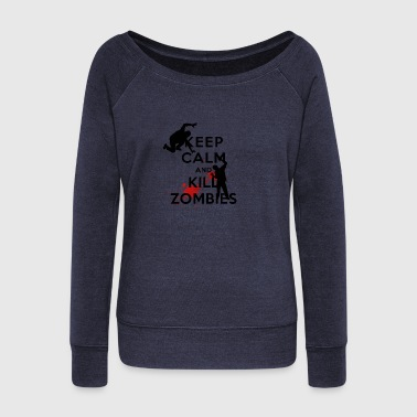 KEEP CALM ZOMBIE - Women's Wideneck Sweatshirt