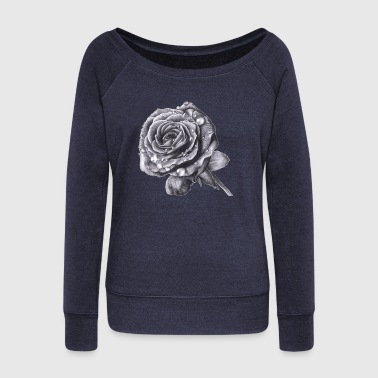 rose - Women's Wideneck Sweatshirt