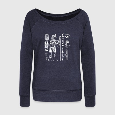 Egyptian & Hieroglyphics Shirt - Women's Wideneck Sweatshirt