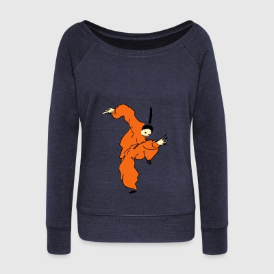 shaolin comic - Women's Wideneck Sweatshirt