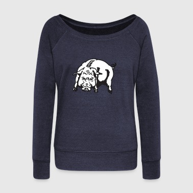 Angry Pig Animal Hog Piggy Mammal 45976 - Women's Wideneck Sweatshirt