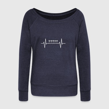 My heart beats for farmers! gift - Women's Wideneck Sweatshirt